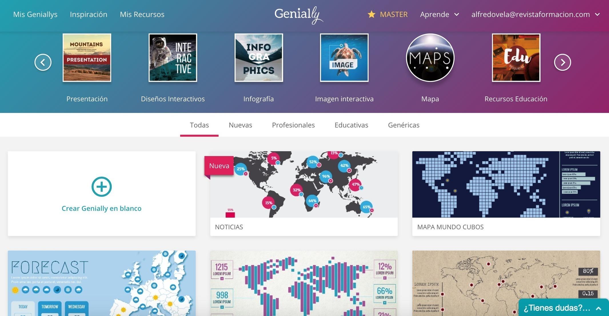 Genial.ly: 8 plantillas y 1 ejemplo de Mapas in...