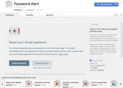 Evita el phishing con Google Password Alert | #GoogleMaps | Scoop.it
