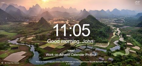 Momentum - Chrome extensionkeeping users focused at at the start of their day | technologies | Scoop.it