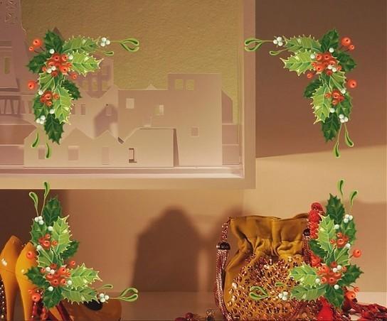 Vinilos navidad escaparates y vidrieras ideas - Adornar escaparate navidad ...