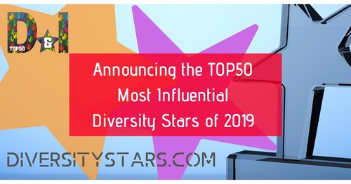 DiversityStars.com releases the TOP50 Most Influential Diversity Stars for 2019