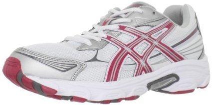 9417c24b77 ASICS Women's Gel-Galaxy 5 Running Shoe,White/Red/Lightning,9.5 M US