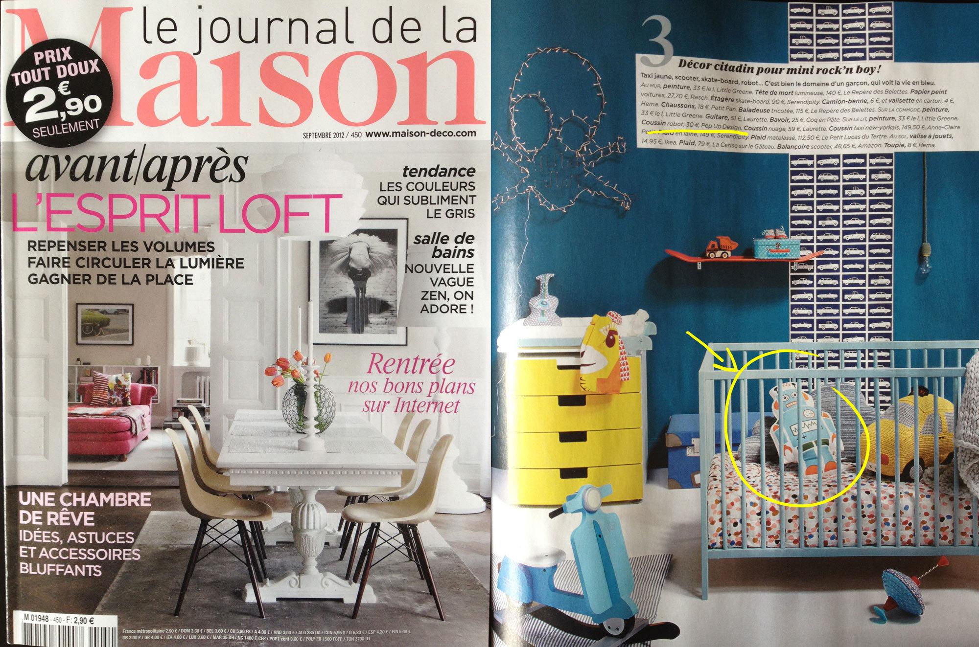le journal de la maison coussin mr large robo. Black Bedroom Furniture Sets. Home Design Ideas