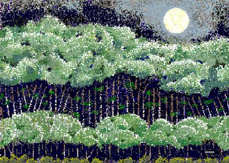 Legally blind artist, 97, paints in pixels - CNET (blog) | Good News for Artists | Scoop.it
