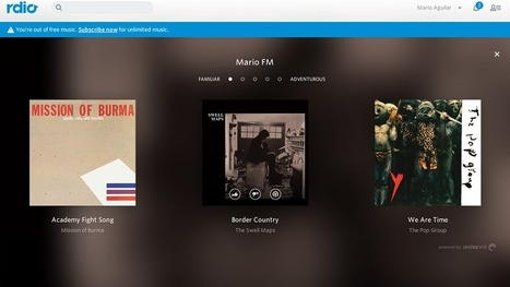 Rdio's New Personalized Radio Automatically Plays Exactly What You Like | Radio Show Contents | Scoop.it