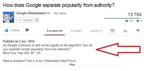 Youtube affiche plus de lignes décrivant les vidéos postées | PITIWIKI & les réseaux sociaux | Scoop.it