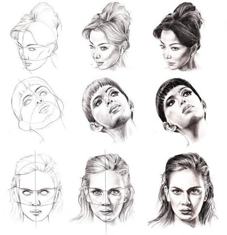 face drawing reference guide drawing referenc