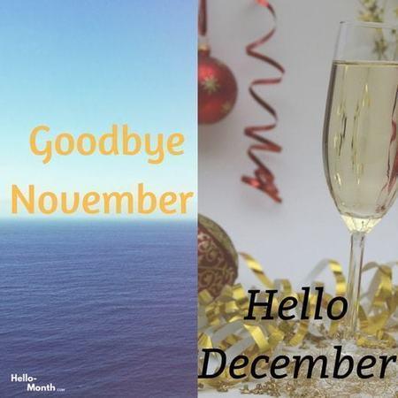 Hello December Black And White December 2018