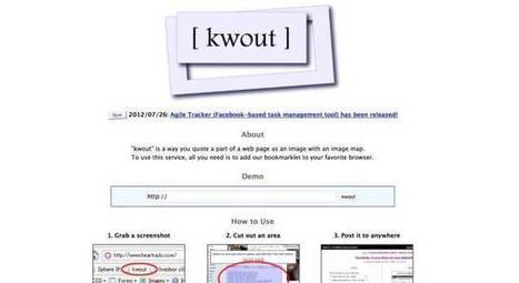 Kwout. Capturer des extraits de sites – Les Outils Tice | Web information Specialist | Scoop.it