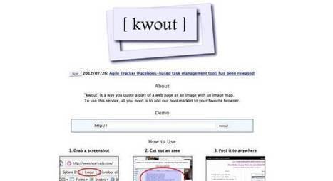 Kwout. Capturer des extraits de sites – Les Outils Tice | François MAGNAN  Formateur Consultant | Scoop.it