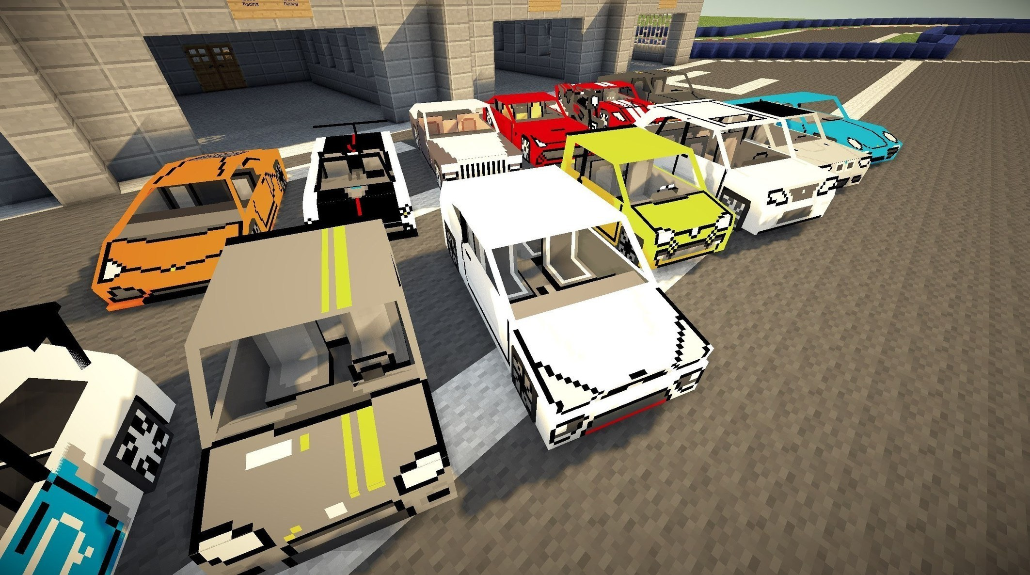 "Minecraft Flans mod - Too many cars! ""Poke..."