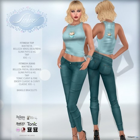 77f03fd07cd Sweet Temptation Top   Jeans Aqua Teleport Hub Group Gift by Lurve