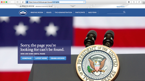 Civil Rights, LGBT Pages Erased from White House Website  | Community Village Daily | Scoop.it