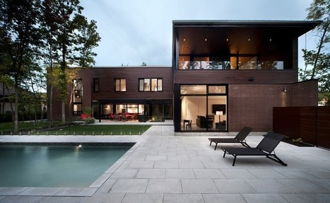 Facade Maison Brique Et Bois façade en bois red cedar et brique pour