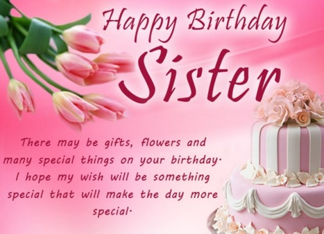 Best Happy Birthday For Sister Quotes Sms Mes
