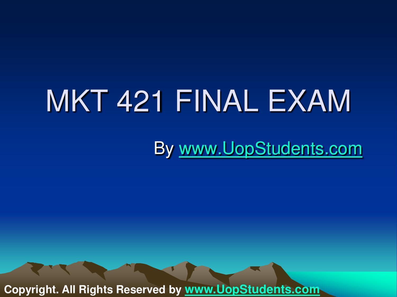 mkt 521 final exam
