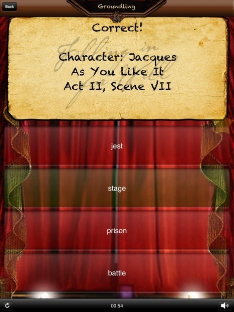 Filling In For Will - An iPad Game About Shakespeare - iPad Apps for School | iPad:  mobile Living, Learning, Lurking, Working, Writing, Reading ... | Scoop.it