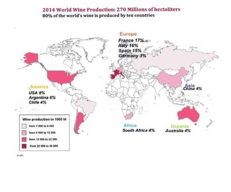 Bilan de la situation mondiale du vin par l'OIV | Route des vins | Scoop.it
