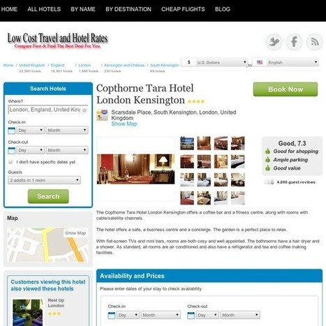 LowCostTravelandHotelRates - Copthorne Tara Hotel London Kensington | TravelDeals4U | Scoop.it