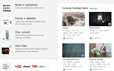 Video Curation Tools: Auto-Collect, Save and Organize Your Favorite Clips with Vidque | Curation in Higher Education | Scoop.it