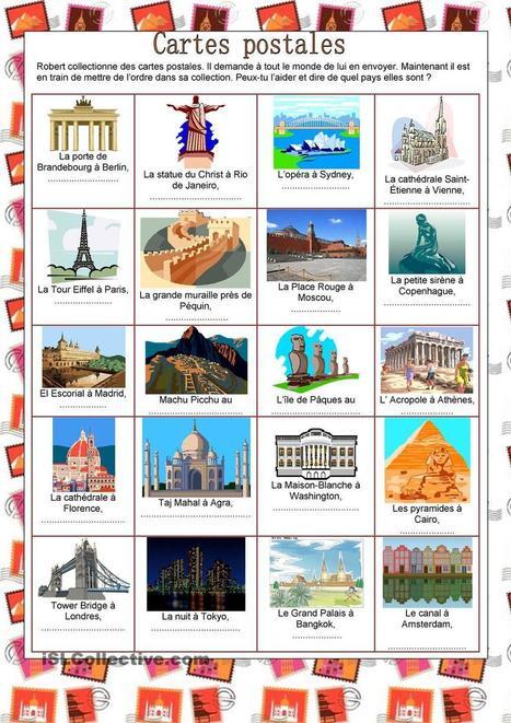 Pays - Cartes postales | Français Langue étrangère | Scoop.it