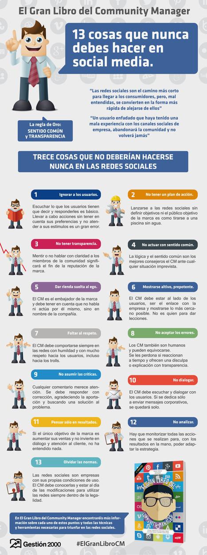 13 cosas que NUNCA has de hacer en tus Redes sociales   Las TIC en el aula de ELE   Scoop.it
