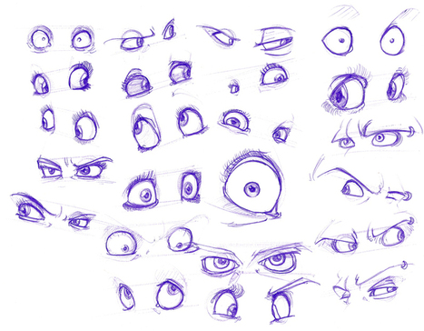 how to draw male cartoon eyes