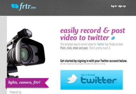 frtr.me: créez une vidéo et publiez-la sur Twitter   Time to Learn   Scoop.it