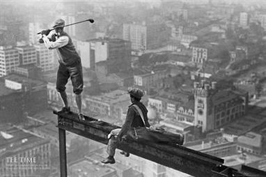 12 Curious Vintage Photos That Show People Who Weren't Afraid of Heights  - ODDEE | IELTS, ESP, EAP and CALL | Scoop.it