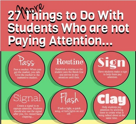 27 More Things to Do With Students Who are not Paying Attention | ks3humanities | Scoop.it