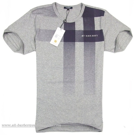 butberry outlet yljb  Burberry Classic Mens T-Shirt 038 Gray [B003472]