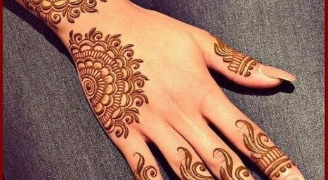 Easy And Simple Stylish Mehndi Designs For Hand