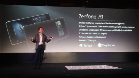 Vapor Cooled ASUS Zenfone AR Smartphone Comes with 8GB RAM, Supports Google DayDream and Tango | Embedded Systems News | Scoop.it