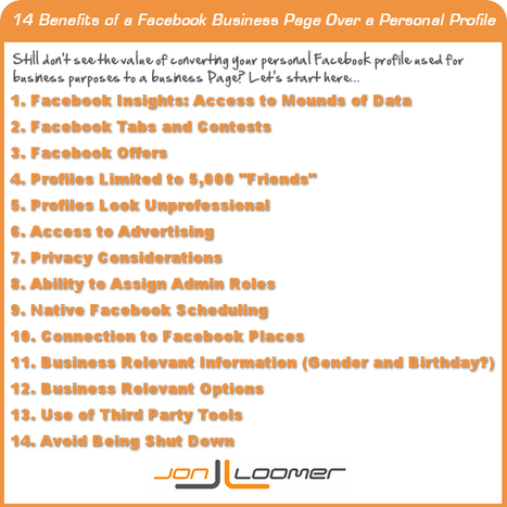 14 Benefits of a Facebook Business Page Over a Personal Profile | Corporate, Employee and Marketing Communication | Scoop.it