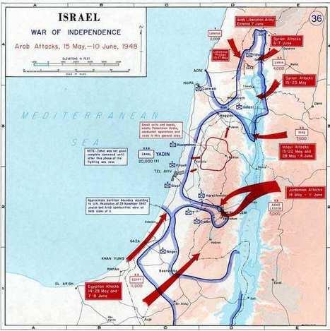 1947-1949 - La Guerra de la Independencia de Israel - Mis Juderías | 1948 Israel War of Independence | Scoop.it