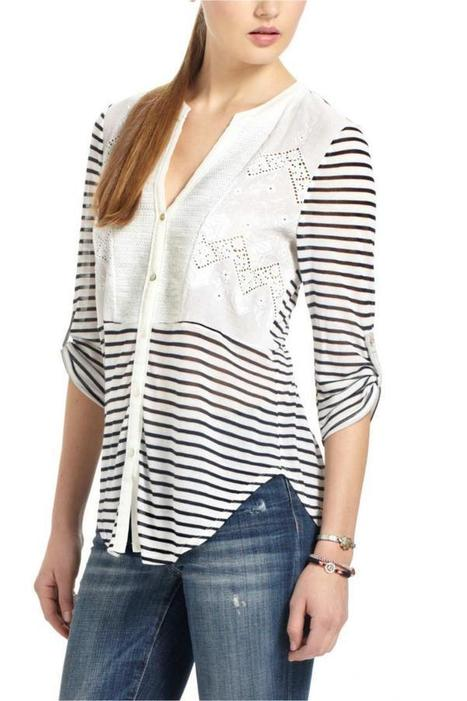 Sequined Placket Henley | Anthropologie.eu | GonPin.me | My Fasion 101 | Scoop.it