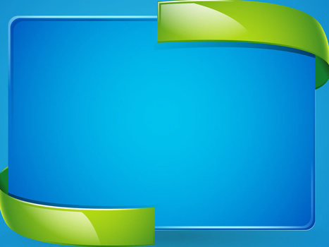 3d Border Blue Green Backgrounds For Powerpoint