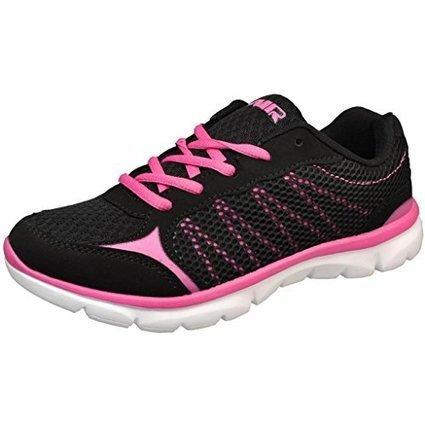 online store 83a84 8757e Air Athletic Women s Lightweight Black Hot Pink Comfort Running Shoes