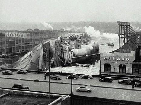 Wreck of the SS Normandie, 1942   Auprès de nos Racines - Généalogie   Scoop.it