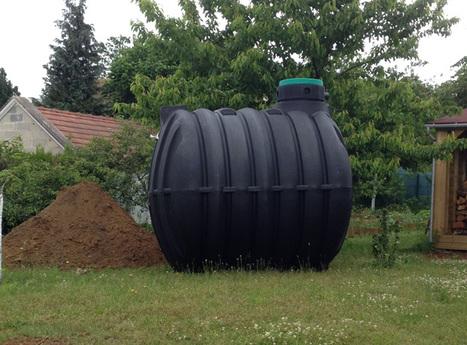 Maison écologique : installation d'une cuve enterrée de récupération d'eau de pluie | Habitat durable et ecoconstruction | Scoop.it