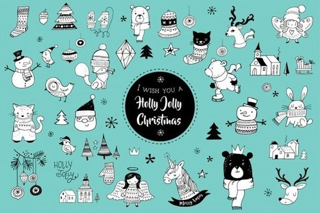 Ending soon! 50 Christmas Doodles *FREE for next 7hrs | Design Freebies & Deals | Scoop.it