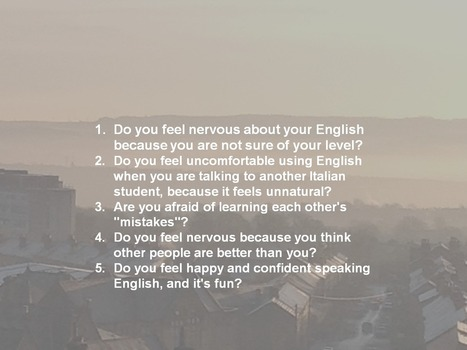Do learners want to speak English... or not? | Inspiration for tired EFL Teachers | Scoop.it