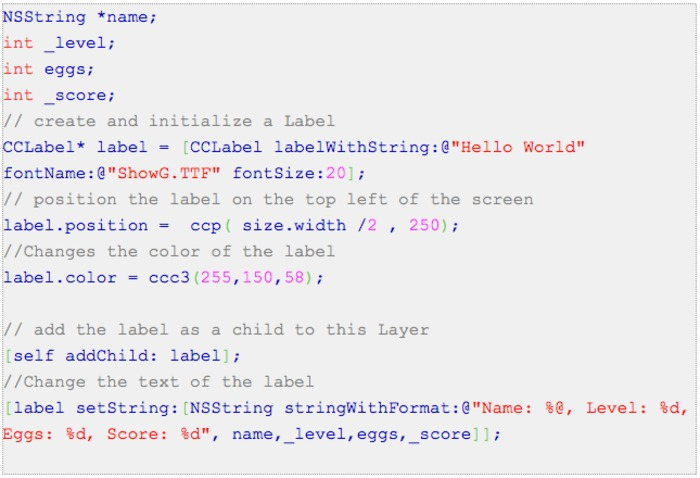 Labels in cocos2d | Britney's programming guide | iPhone and iPad development | Scoop.it