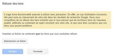L'Outil Google pour refuser des liens entrants est disponible | Ecommerce by Ecom Expert | Scoop.it