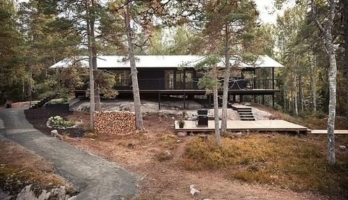 maison bois suede