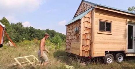 Un étudiant américain qui trouve son kot trop cher construit sa tiny house | Solutions alternatives pour un monde en transition | Scoop.it