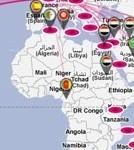 Une carte diplomatique à la sauce Twitter | Geomatic | Scoop.it