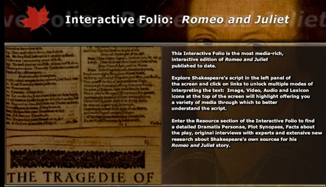 Interactive Folio : Romeo and Juliet   eduglogster   Scoop.it