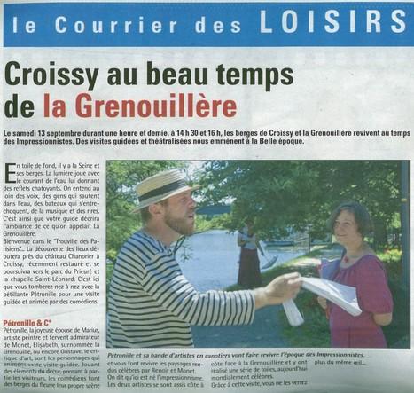 Croissy visite théâtraliséees | Espace Chanorier | Scoop.it