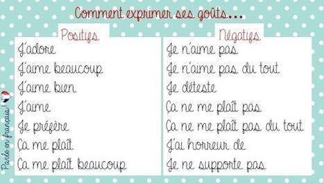 Parle en français!: Les goûts personnels | LES TICE EN CLASSE DE FLE | Scoop.it